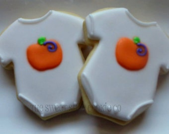 Pumpkin Baby Shower cookies 2 dozen