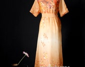 Floral Dress Maxi Dress Dress Party Coast Chiffon Summer Orange Sundress