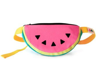 Watermelon Bumbag. Watermelon fanny pack. Tropical bag. Melon purse. Fun accessory. Fruit.