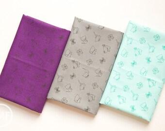 Kitten's Meow Kitties Fat Quarter Bundle, 3 Pieces, Heather Rosas, 100% Cotton, Camelot Fabrics, 6141405