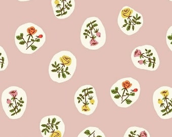 Tiger Lily Small Roses in Blush, Heather Ross, Windham Fabrics, 100% Cotton Fabric, 40930-4
