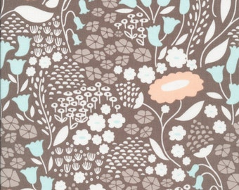 Morning Song Lush Lullaby in Taupe, Elizabeth Olwen, 100% GOTS-Certified Organic Cotton, Cloud9 Fabrics, 129950