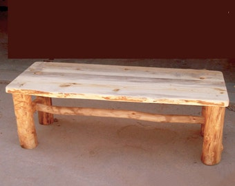 Wedding Guest Book Alternative Rustic Wood Bench Sustainable Furniture, Rustic Furniture from Naturally Aspen