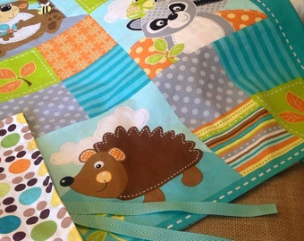 Infant Duvet Cover Woodland Animal Design