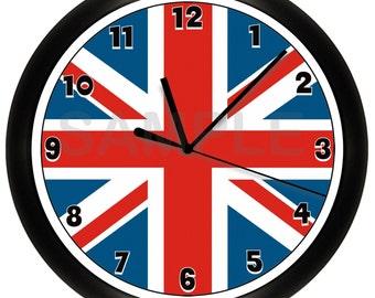 Union Jack Flag Wall Clock