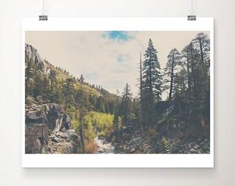 lake tahoe photograph mountains photograph california photograph woodland photograph eagle falls photograph tree photograph