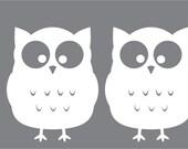 wall decal - Nursery decal  - Owl Silhouette - owl wall art - owl bedroom decor - Wall Decor - Custom decals