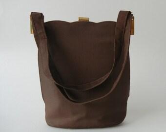 Vintage Purse, Vintage Brown Purse, 1950s Brown Purse, 1950s Purse, Retro 50s Handbag, Vintage Handbag, 1950s Handbag, 50s Brown Handbag