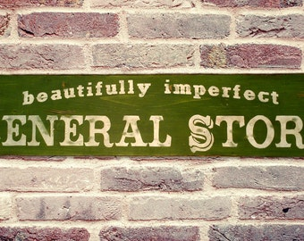 Personalized General Store Rustic Wood Sign - Hand Crafted Vintage Wooden Decor