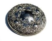 Vintage Ornate Silver Hand Mirror: Beautiful Ornate Purse Mirror