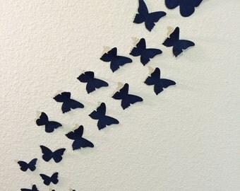 3D Denim Butterfly Wall Art.