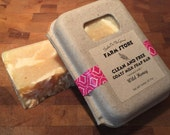Clean and Free Goats Milk Soap Bar Coconut and Tree Nut Oil Free - Wild Honey Scent
