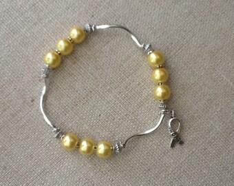 051 Bone/Sarcoma Cancer Awareness Bracelet