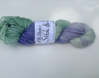 "Clearance - Hand dyed Yarn, ""Lavender Field"", Worsted Superwash Merino"