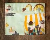 Reusable Small Snack Bag Snap Down - The Viking Sea - Alexander Henry