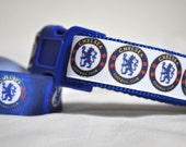Dog Collar -Chelsea -  Playing Away-  50% Profits to Dog Rescue
