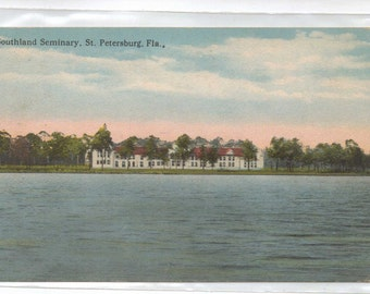 "Florida, Vintage Postcard, ""Southland Seminary, St. Petersburg, Fla.""  1920s,  #664-2."