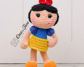 Snow White Amigurumi - PDF Crochet Pattern - Instant Download - Doll crochet Princess Cuddy Stuff Plush