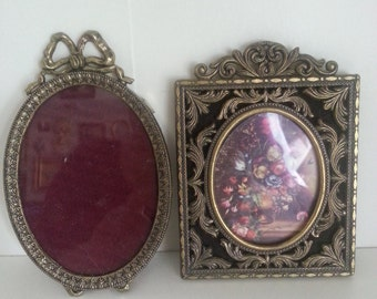 2 small vintage made in Italy ornate frames