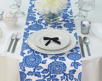 Select your Size Wedding Table Runner, Choose your Table Runner, Blue Wedding Linens , Blue Table Topper, Mums Cobalt Blue Table Runner