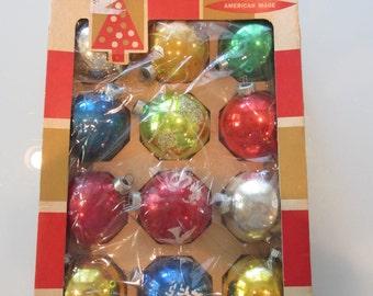 Vintage Coby Glass Christmas Balls