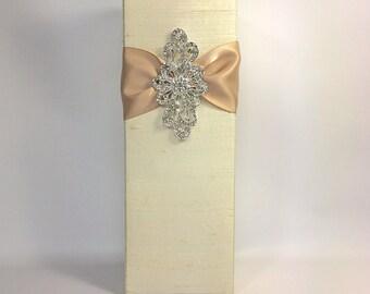 Flower Vase Cover, Bridal Shower Gift Idea, Bride and Groom, Champagne Holder, Wine holder, Pre-wrapped Elegantly.