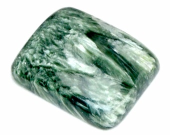 Seraphinite Cabochon Stone (23mm x 19mm x 6mm) 25cts - Rectangle Cabochon