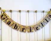 Childrens NAME Banner , Baby Shower Decorations , 1st Birthday Decorations , Bumble Bee Baby shower Decorations, You Pick the Colors