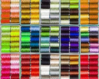 Silk Thread, 75   Spools Wholesale Indian Silk Thread, Art Silk Thread, Hand And Machine Embroidery Thread
