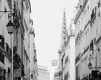 Paris Photography, Paris Architecture Prints, Wanderlust, Black and White Wall Art, Travel Photography, French Wall Decor, On the Island