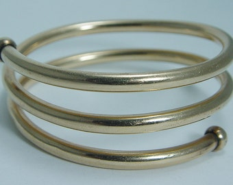 Vintage Designer Regel 1/20 12K Gold Filled GF Bangle Coil Bracelet