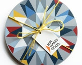 SALE Matching set of 4 Kaleido Tablemats - Light Multi *Online Exclusive!*