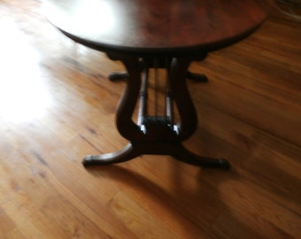Vintage Mid Century Lyre Accent Table