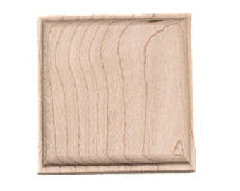 12 Maple Blank Sculpted Squares Furniture Woodworking