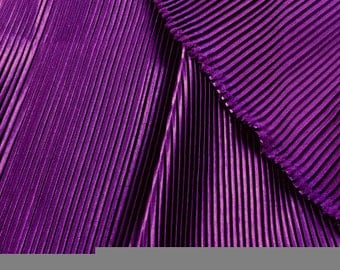 solid colors pinstripe wrinkle pleated silk fabric by one yard for dress diy