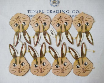 SALE 2 sheets for the price of 1 !! Unusual Vintage/Antique Bunny Heads Diecut Victorian Scrap Authentic