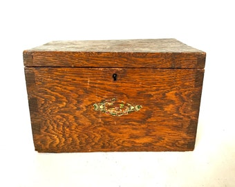 Wooden Recipe / coupon file box