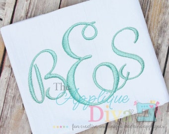 Pretty Simple Monogram Embroidery Font