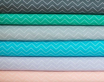 Stella Zig Zag Chevron Fabric Bundle - Half Yard Bundle - 6 Half Yard pieces (B350)