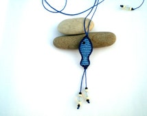 Macrame necklace. Fish necklace. Macrame fish. Necklace for summer. Hippie necklace.