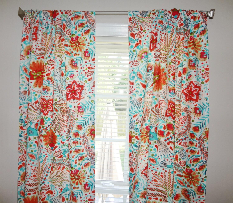 Curtain Panels Dena Peaceful Perch Curtain Panels Blue Peacock