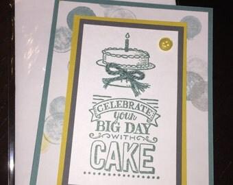 Handmade Stamped Stampin Up Happy Birthday Greeting Card
