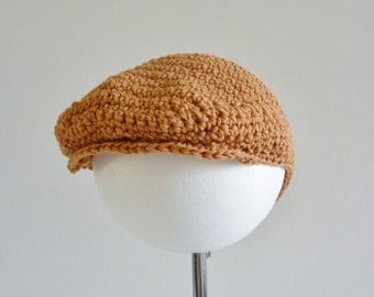 Flat cap in soft cotton or wool - available newborn to age 2- custom made for you