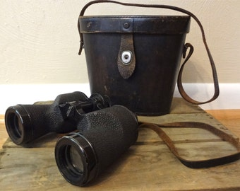Antique Bausch & Lomb Binoculars Circa 1931 - Original Leather Carrying Case Work Perfectly!