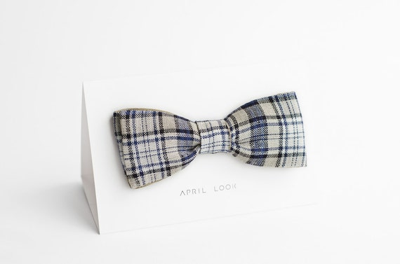 Men's bow tie, tartan bow tie - reversible bow tie, MADE TO ORDER