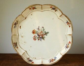 Vintage Italian tray, serving tray, wooden tray, tea tray