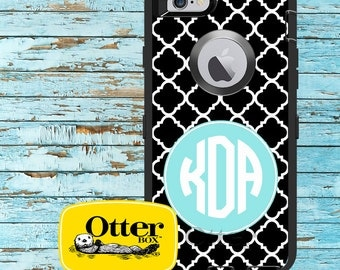 Monogrammed OtterBox Defender Phone Case, Personalized OtterBox, iPhone 6, 6 Plus, iPhone 5/5S/5C, Galaxy S5 Clover