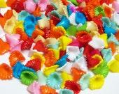 30 pcs Vintage Small Acrylic Flower Beads/Vintage Plastic Flower Beads/Acrylic Flowers/Calla Lilly Flowers/