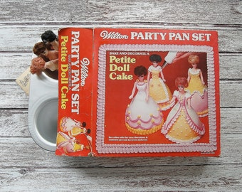 Wilton Cake Pan, Mini Cake Pan, Petite Doll Cake Pan, Birthday Party Pan Set, Doll Cake Pan