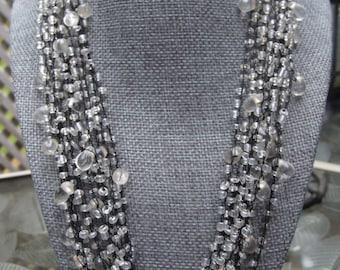 Vintage Multi-Stranded Teardrop Necklace